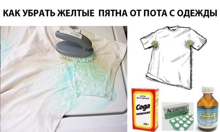 Как удалить въевшееся пятно с футболки фото