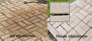 Как отмыть тротуарную плитку от цементной пыли
