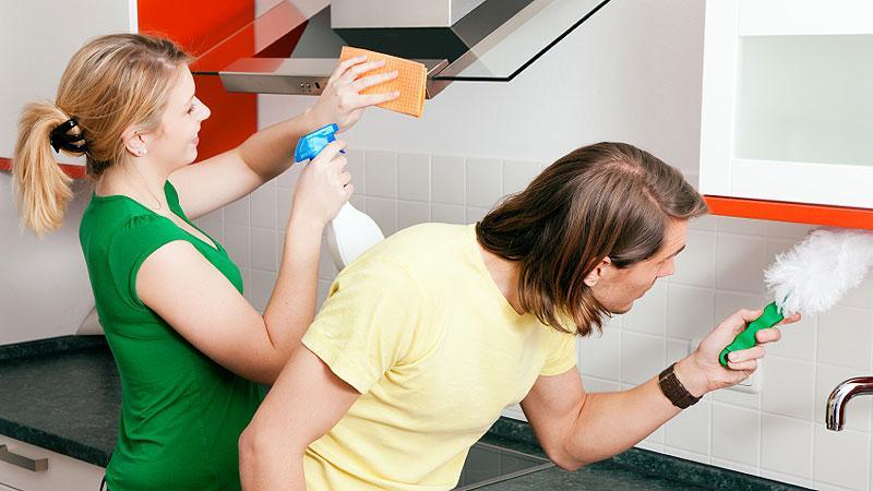 Как отмыть мебель на кухне от жирных пятен фото