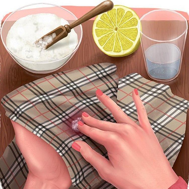 Чем отмыть пятна от ягод на одежде фото