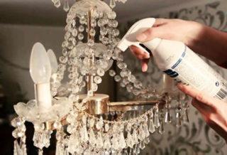 Средство для мытья люстры не снимая