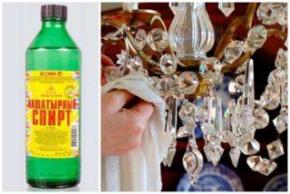 Как помыть хрустальную люстру, чтобы блестела: что делать с хрустальными подвесками, можно ли не снимать с потолка и какие нужны средства для чистки