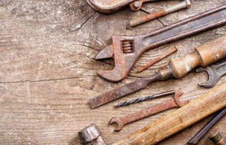 Как отмыть ржавчину с гаечных ключей