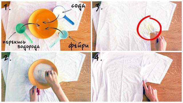 Как вывести пятна пота с рубашки в домашних условиях фото