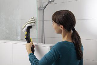 Как отмыть известковый налет со стекла душевой