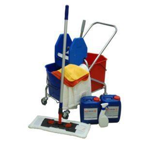 На инвентарь наносится маркировка, при помощи которой персонал определяет помещение для уборки