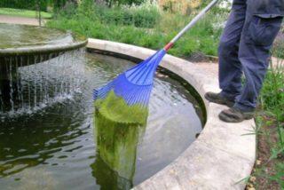 Очистка дна искусственного водоема уберет неприятные запахи