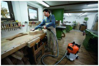 Пылесос для столярной мастерской для сбора стружки